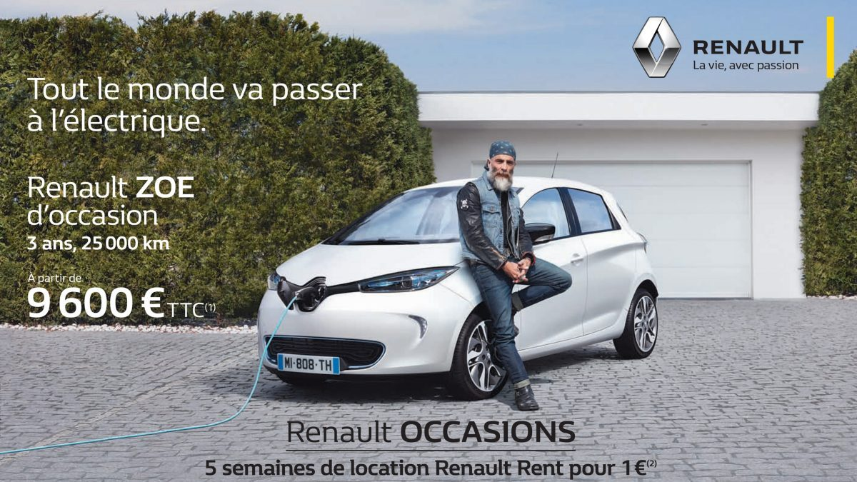 auto ecologique offensive renault sur les zoe d 39 occasion. Black Bedroom Furniture Sets. Home Design Ideas