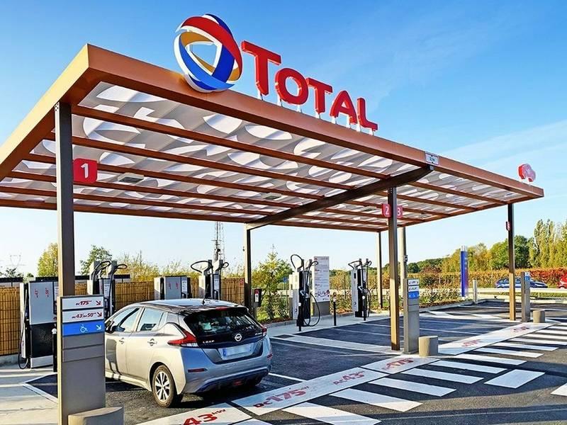 Borne de recharge Total