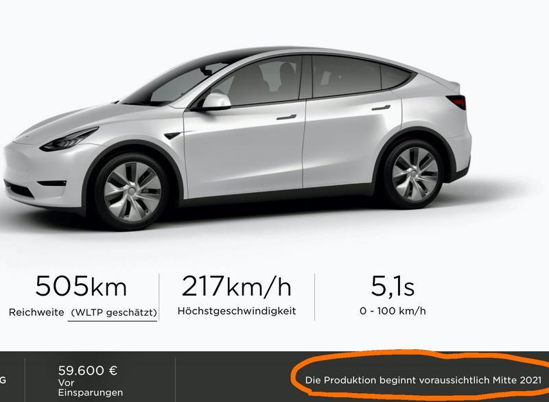 Capture du site Allemand Tesla