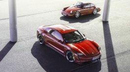 Porsche Taycan et 911